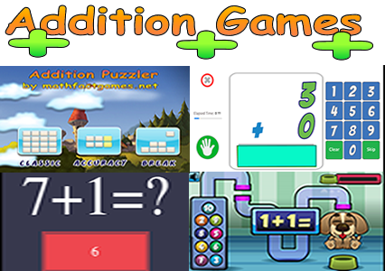 Addition Math Games - Math Facts