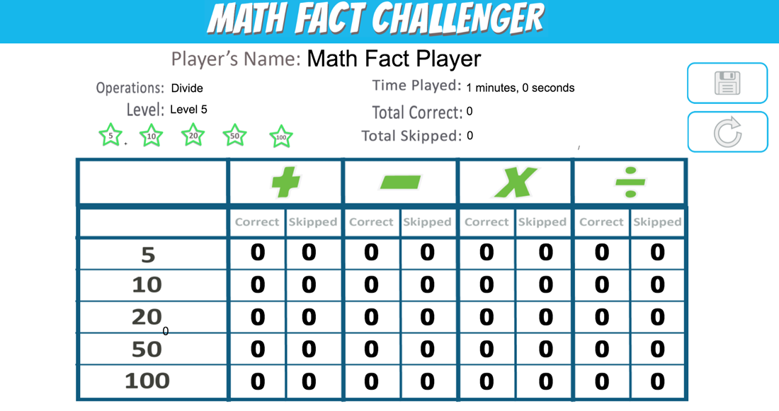 Download math fact challenger app and play advertisement free.