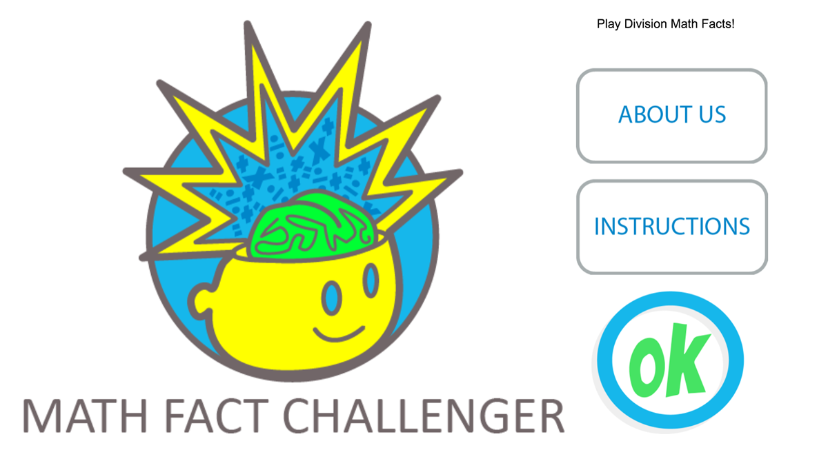 Play math fact challenger in portrait mode.