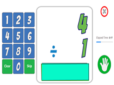 Division Math Fact Game