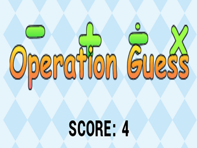 Guess the math operator game.
