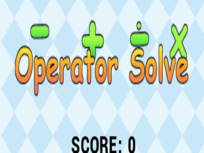Solve the math problem for the given operator.
