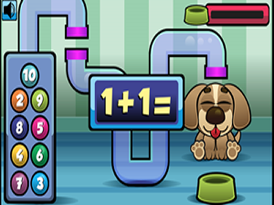 Puyppy Math - Feed the puppy by practicing addition and subtraction.