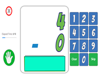 Subtraction Math Fact Game