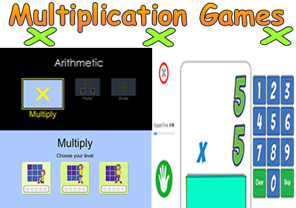 Multiplication Math Games - Math Facts
