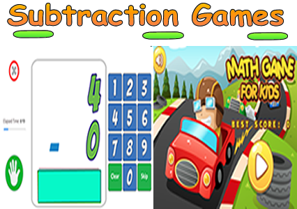 Subtraction Math Games - Math Facts